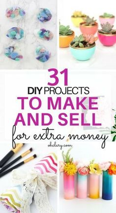Hot Craft Ideas to Sell - Crafts To Make And Sell From Home Looking for hot craft ideas to sell at craft fairs or on Etsy? Check out these 32 EASY crafts to make and sell from home to make EXTRA CASH quickly! Check out these DIY crafts to sell NOW! Craft Ideas To Sell Handmade, Diy Projects To Make And Sell, Sell Diy, Diy Crafts To Sell, Handmade Crafts, Money Making Crafts, Selling Crafts, Crochet Ideas To Sell, Halloween Crafts To Sell
