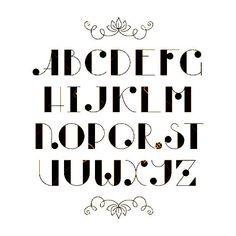 Latein Elegant Niedlich Typoskript. on 123rf.com