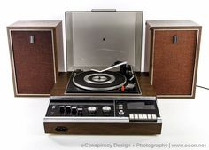 Vintage PANASONIC SC-777 Stereo System Garrard Turntable AM FM Cassette Speakers #Panasonic