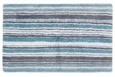 ShopStyle.co.uk: Light blue striped bath mat Sold Out