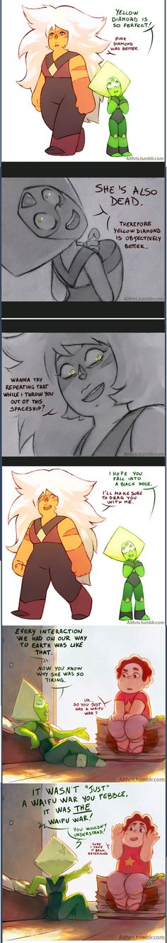 See more 'Steven Universe' images on Know Your Meme! It's Over Now, Steven Universe Funny, Universe Images, Lapidot, Pokemon, Know Your Meme, Cartoon Shows, Feel Tired, Funny Comics