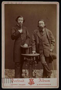 Jan Matejko i Henryk Siemiradzki, J. Kostka i Mulert, 1877 r.   #listopad #movember #wąsy #moustache #november