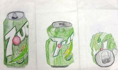 evolution of a soda can drawing