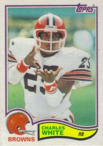 Charles White 1982 Topps #75 football card Cleveland Browns History, Cleveland Browns Football, Cleveland Rocks, Football Cards, Nfl Football, Football Helmets, Vintage Football, Running Back, My Guy