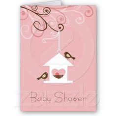 Bird House Baby Shower Cards