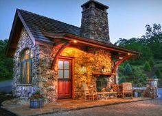 Stone Guest Cottage  ~ Great pin! For Oahu architectural design visit http://ownerbuiltdesign.com