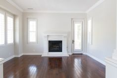 BM Pale Oak... I need to repaint! ugh... Love Classic Gray but it's too light in my space : (  Our New Home | Downstairs Reveal - A Thoughtful Place