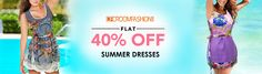 Visit us at www.droomfashion.com & get 40% off on all Summer Dresses. HURRY UP! Limited period offer.