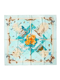 Green Varangues Scarf 90cm  from Sail Away: Chic Seaside Accessories on Gilt
