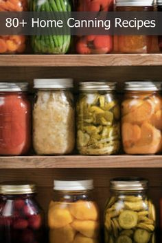 80+ Home Canning Recipes...http://homestead-and-survival.com/80-home-canning-recipes/