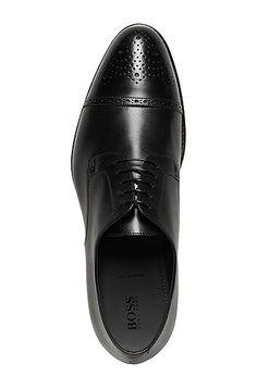 Schnürschuh aus Leder: 'Stommi' Schnürschuh aus Leder: 'Stommi', Schwarz