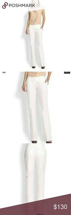 Theory Tevita White Pants Theory's Tevita Light White Pants; side slash pockets, back welt pockets, low rise. Hook zip front with belt loops. Must press and launder as they are wrinkled with dust marks fromm store dressing room. Additional pictures coming soon. Theory Pants