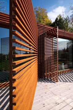 Casa Y / F:L Architetti brise soleil acier corten Timber Screens, Window Screens, Privacy Screens, Privacy Fences, Patio Privacy, Screen Doors, Wooden Screen Door, Metal Screen, Landscape Architecture