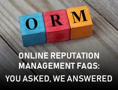 Your #ORM questions answered in this article! Question And Answer, This Or That Questions, Reputation Management, Management Tips