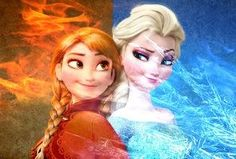 The Super Sisters: Snow Queen and Fire Princess, ready for action! Percy Jackson Fan Art, Disney Crossovers, Disney Memes, Disney Adoption, Frozen Memes, Ice Powers, Pictures Of Anna, Frozen Pictures, Alternative Disney Princesses