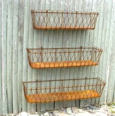 Rusty Wire Baskets . . .
