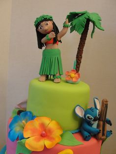 Lilo & Stitch Luau Cake