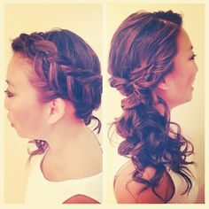 Sideswept style by me☆