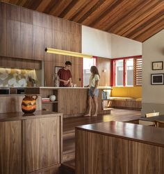 Image 14 of 19 from gallery of Split House / Pac Studio. Photograph by Simon Devitt Auckland, Cabana, Grey Water System, New Zealand Architecture, Timber Screens, Wooden Screen, Loft, Hip Roof, Screen Design