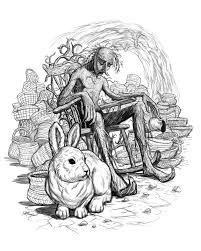 Image result for rabbits drawing wallpaper