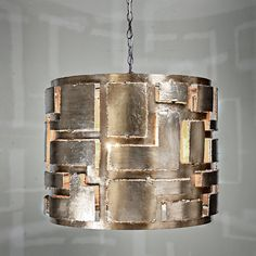 Metal Cut Out Chandelier: Product SKU: GL Shades of Light wide high Drum Shade Chandelier, Gold Chandelier, Modern Chandelier, Chandeliers, Chandelier Lighting, Large Pendant Lighting, Contemporary Pendant Lights, Modern Contemporary, Urban Aesthetic