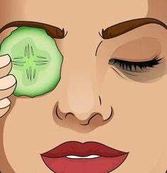 Göz altı kararmalarına salatalık tedavisi