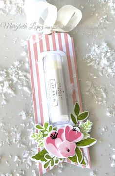 <img> Marybeth's time for paper: Southern Florals and Lip Balm - Lip Balm Packaging, Best Lip Balm, Natural Lip Balm, Treat Holder, Pretty Box, Craft Sale, Craft Fairs, Craft Gifts, Lip Colors