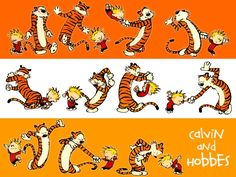 Calvin and Hobbes - world's greatest comic. My most favorite comic strip ever. I have 2 books. Too bad they don't publish it in the newspaper anymore.