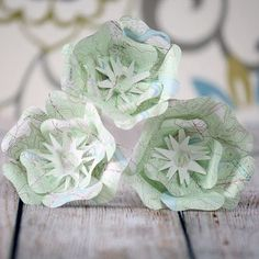 Map Paper Flower Centerpieces