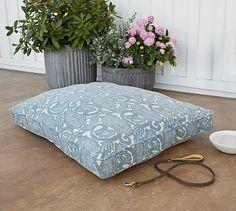 Shibori Floral Pet Bed Cover #potterybarn