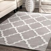 Moroccan Trellis Rug: A contemporary rug that blends the traditional comfort and beauty of a hand hooked wool rug with a modern design Grey And White Rug, White Area Rug, Gray, Blue Area, Grey Rugs, Beige Area Rugs, Wool Area Rugs, Wool Rug, Wool Yarn