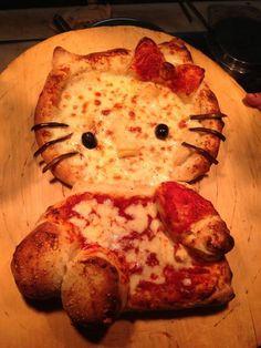 hello kitty pizza full body – My WordPress Website Torta Hello Kitty, Chat Hello Kitty, Hello Kitty Items, Hello Kitty Birthday, Baby Kitty, Cute Food, Good Food, Yummy Food, Delicious Meals
