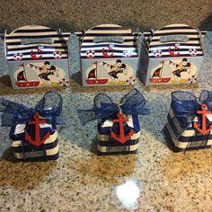 Mickey nautical favor boxes Nautical Favors, Disney Reveal, Favor Boxes, Skateboard, Nautical Party Favors, Skateboarding, Favour Boxes, Skate Board, Skateboards