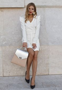 #orovicafashion #whitdress #habag White Wrap Dress, White Outfits, Hermes Birkin, Timeless Fashion, Anna, Beige, Womens Fashion, Dresses, White Rave Outfits