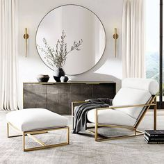 Begin using these interior decor ideas to enhance your home and give it new life. Home decorating is fun and will transform your house into a home whenever you understand how to do it right. Living Room Mirrors, Home Living Room, Living Room Designs, Contemporary Living Room Decor Ideas, Scandinavian Interior Living Room, Living Room Modern, Home Design, Home Interior Design, Interior Decorating