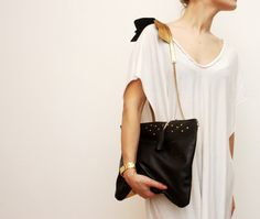 APOLLO/ Black & Gold natural leather purse with by DDSLLGirlsStore, $108.00