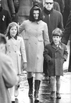 Jackie, Caroline, and John Jr.