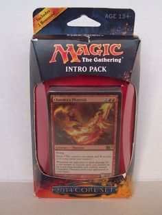 MTG 2014 Core Set Magic The Gathering Fire Surge Chandra's Phoenix Intro Pack