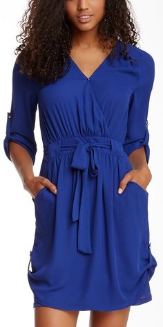 Majestic Blue Woven Dress