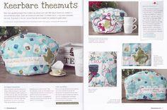 Project voor Stitch At Home - Nr. 42 Zomer 2013. Een keerbare Theemuts.   Erg leuk project om te doen! Ook deze keer is het blad ook zeker weer de moeite waard om aan te schaffen. #SatH #delenisleuk