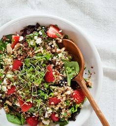 Strawberry quinoa & feta salad.