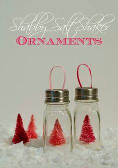 Salt and pepper shaker ornaments