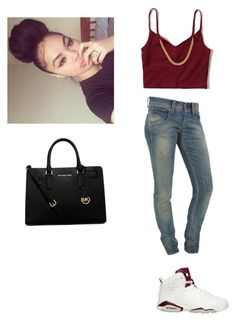 """""""Maroon """" by baybeebrii on Polyvore featuring Hollister Co., Fornarina and MICHAEL Michael Kors"""