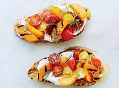 Apricot-and-Ricotta Tartines   Learn to make these addictive apricot, tomato and ricotta tartines at Food & Wine.