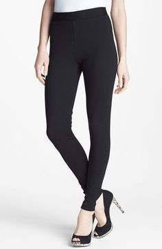 Two by Vince Camuto Seamed Back Leggings Black