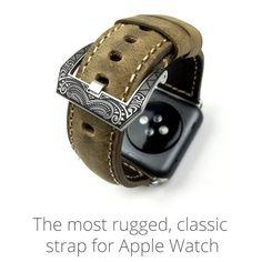 Mat bracelets en cuir de vachette pour Apple suivre bande pour 38 MM / 42 MM taille rétro en cuir bracelets
