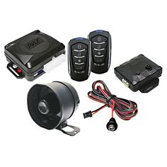 Pyle PWD701 4-Button Remote Door Lock Vehicle Security System 2-four button transmitters - Remote panic mode - Anti-carjack - Horn honk output - Remote auto start. Status indicator LED - Remote chirp mute - 2 Auxiliary outputs - Remote keyless entry - Power window roll up. Valet / override switch - Remote sensor bypass - limited lifetime warranty - Illuminated entry - Additional Sensors: Glass bre... #Pyle #Car_Audio_or_Theater