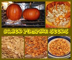 Super Simple Baked Pumpkin Seeds for next year- because we already started. oops