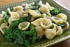 Orecchiette with Chicken Sausage and Broccoli Rabe - you will love this lightened up version!