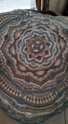 This is my official page for the Mandala Madness CAL which will start on Thursday March Ravelry: Project Gallery for Mandala Madness pattern by Helen Shrimpton Ravelry is a community site, an organizational tool, and a yarn & pattern database for knitters Crochet Doily Rug, Crochet Mandala Pattern, Freeform Crochet, Crochet Stitches Patterns, Cute Crochet, Crochet Baby, Crochet Mandela, Braided Rag Rugs, Crochet For Beginners Blanket